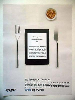 Publicite-advertising :  amazon kindle paperwhite  2016 liseuse,couverts
