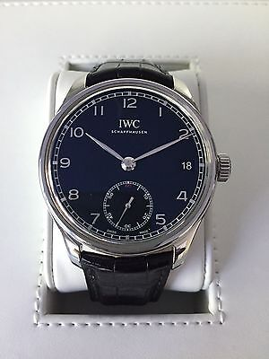 IWC Portuguese Hand-Wound Eight Days IW510202 8 Day, Complete w/ Boxes & Papers