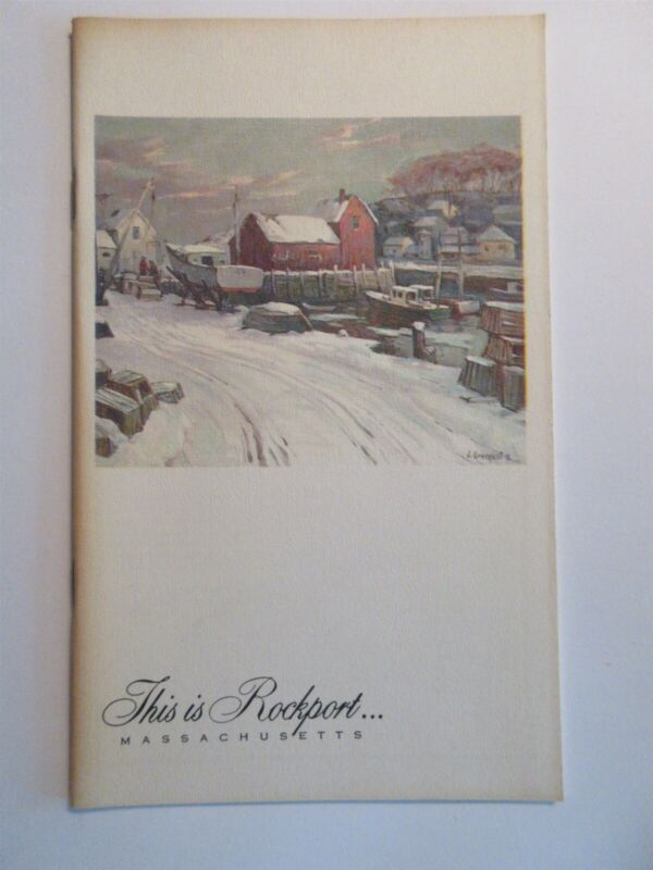 This is Rockport Massachusetts booklet vintage collection of editorial material