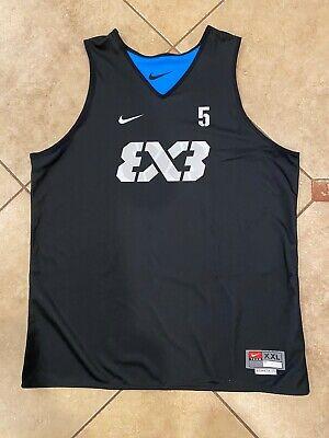 New Nike FIBA Team 3x3 Blue Reversible Basketball Jersey AR2424-438 Men's XXL