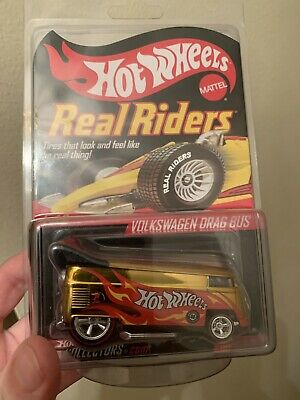 2008 Hot Wheels Real Riders, Volkswagen Drag Bus in Gold Chrome, #5186/10000
