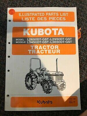Kubota Tractor Illustrated Parts List L2650dt-gst L2950dt-gst
