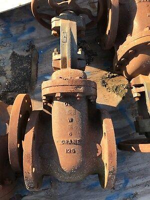 6 Crane Double Disc Gate Valve Osy 465-12 Clb 125 Surplus Ideal For Parts