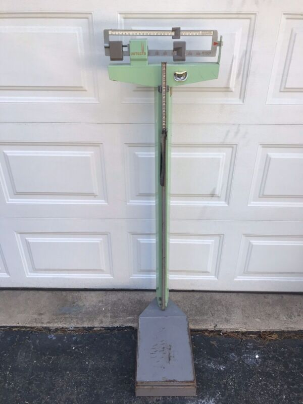 Extremely Rare Green Vtg Detecto Medical Scale