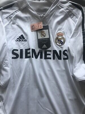 REAL MADRID SPAIN 2005/2006 HOME FOOTBALL SOCCER JERSEY ADIDAS SIZE MENS LARGE image