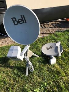 Two bell HD Satellite Dishes