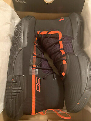 NEW Under Armour Steph Curry Shoes Orange Black 3020613-002 Size 10.5 $130