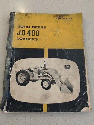 John Deere Jd400 Loaders Parts List