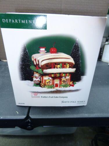 Dept 56 North Pole Series Fretta's Fruit Cake Company #56786 READ
