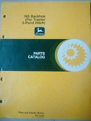 John Deere 165 Backhoe For Tractor 3 Point Hitch Parts Catalog Manual