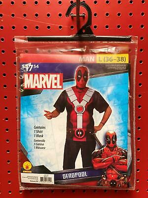 Men's Large DeadPool Costume Shirt and Mask