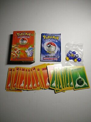 Pokemon Base Set Theme Deck - Brushfire. Opened. Energies, rules, Counters only
