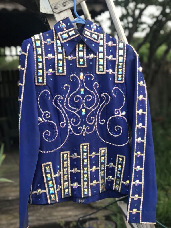 Gorgeous Custom Made Royal Blue Women's Western Show Jacket