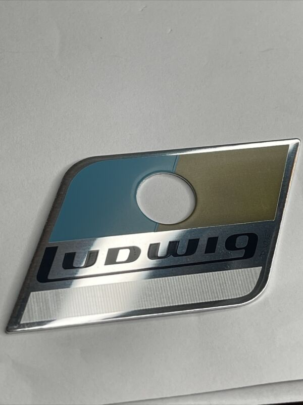 Ludwig Blue And Olive Drum Badge earlier Pointy Version 1969 To 1979