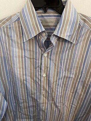 Ermenegildo Zegna Men's Button Up Shirt Size M Long Sleeve 60% Linen