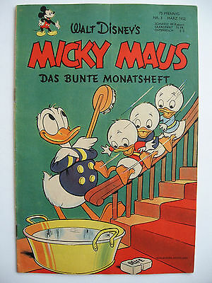 Micky Maus Nr.3, März 1952, Ehapa-Verlag, Zustand 2+