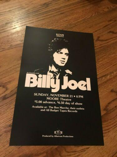 "Billy Joel 1976 Seattle Washington Cardstock Concert Poster 12"" x 18"""