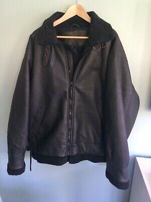 Hugo Boss Leather Look Flying Jacket XL Colour Black