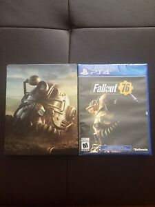 Ps4 fallout 76 + steel book case  (NEW SEALED)