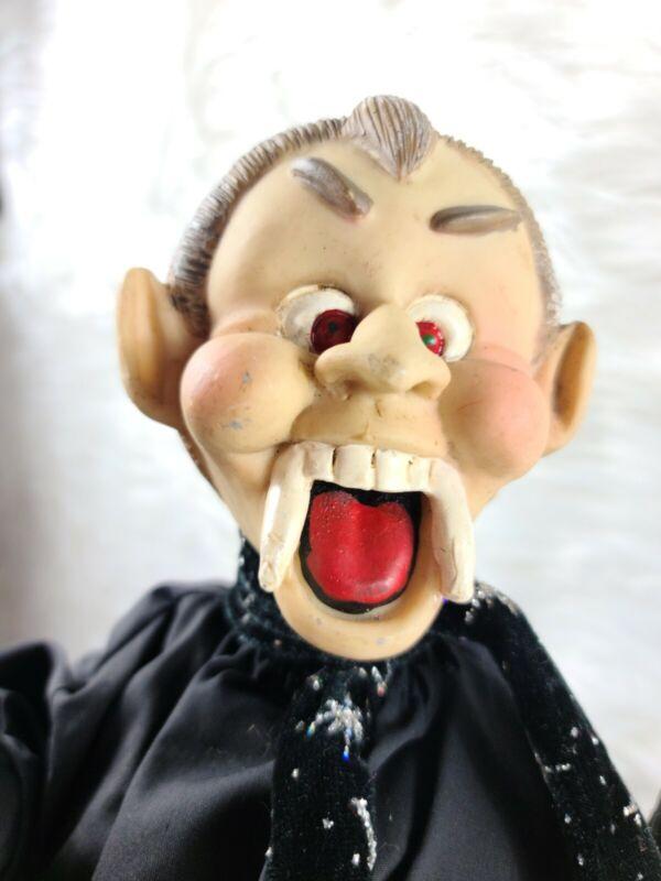 Vintage Dracula Vampire Halloween Doll 16in