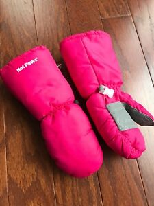 Girls Hot Paws snow mitts