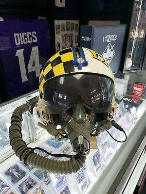 Gentex Vietnam Pilot Flight Helmet USN Navy  HGU-2/P MBU 5 F-4 F-105 Squadron 💥