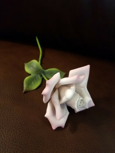 Handmade Lifelike Porcelain Rose For Arrangement Or Traditional Wedding Gift - $19.99