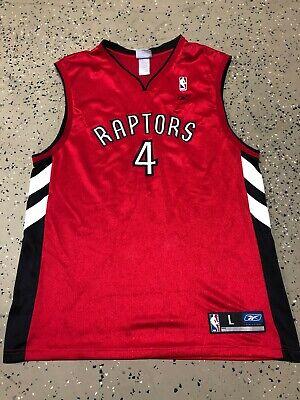 Vintage 90s NBA Toronto Raptors Chris Bosh Reebok Alternate Red Jersey Size L