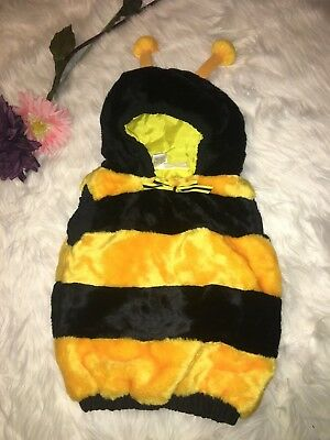 Vintage 90s Bumble Bee Toddler infant Halloween Costume size 12-24 months plush](Toddler Halloween Costumes Bumble Bee)