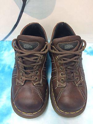Dr. Marten's 9764 Shoe Oxford Brown Leather 4 Eyelet 2 D-ring Lace up Men (4 Eyelet 2 D-ring)