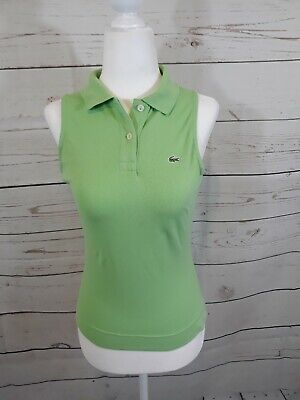 Lacoste Green Sleeveless Top Size 36