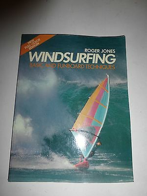 Roger Jones Windsurfing Basic And Funboard Techniques Book Vintage 1985 PB 218