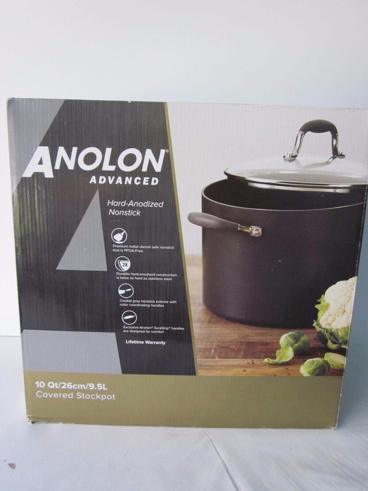 Anolon Advanced 10-Quart Covered Stockpot