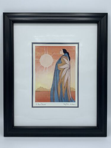 A New Dawn Indigenous Native Indian Canadian Art Print By Maxine Noel - Framed - $24.99