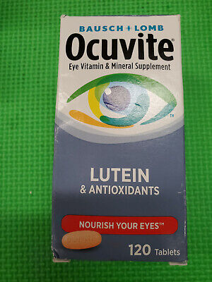 BAUSCH + LOMB Ocuvite Eye Vitamin w/ Lutein 120 Tablets exp-