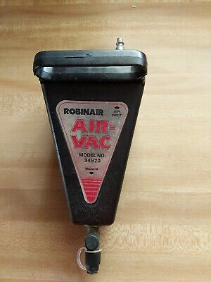 Gently Used Robinair 34970 Dual Inlet Air Vac For R-12 And R-134a