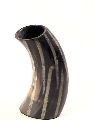 Alte Horn-Vase 23 cm Design der 50er