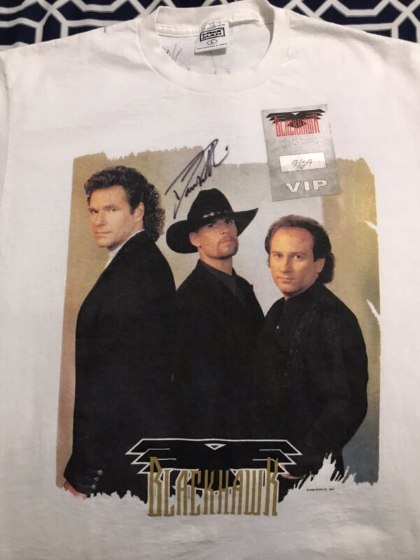 !!Sale!!2x Multi-Platinum Country Band Blackhawk Signed Vintage 90's T-shirt!!!
