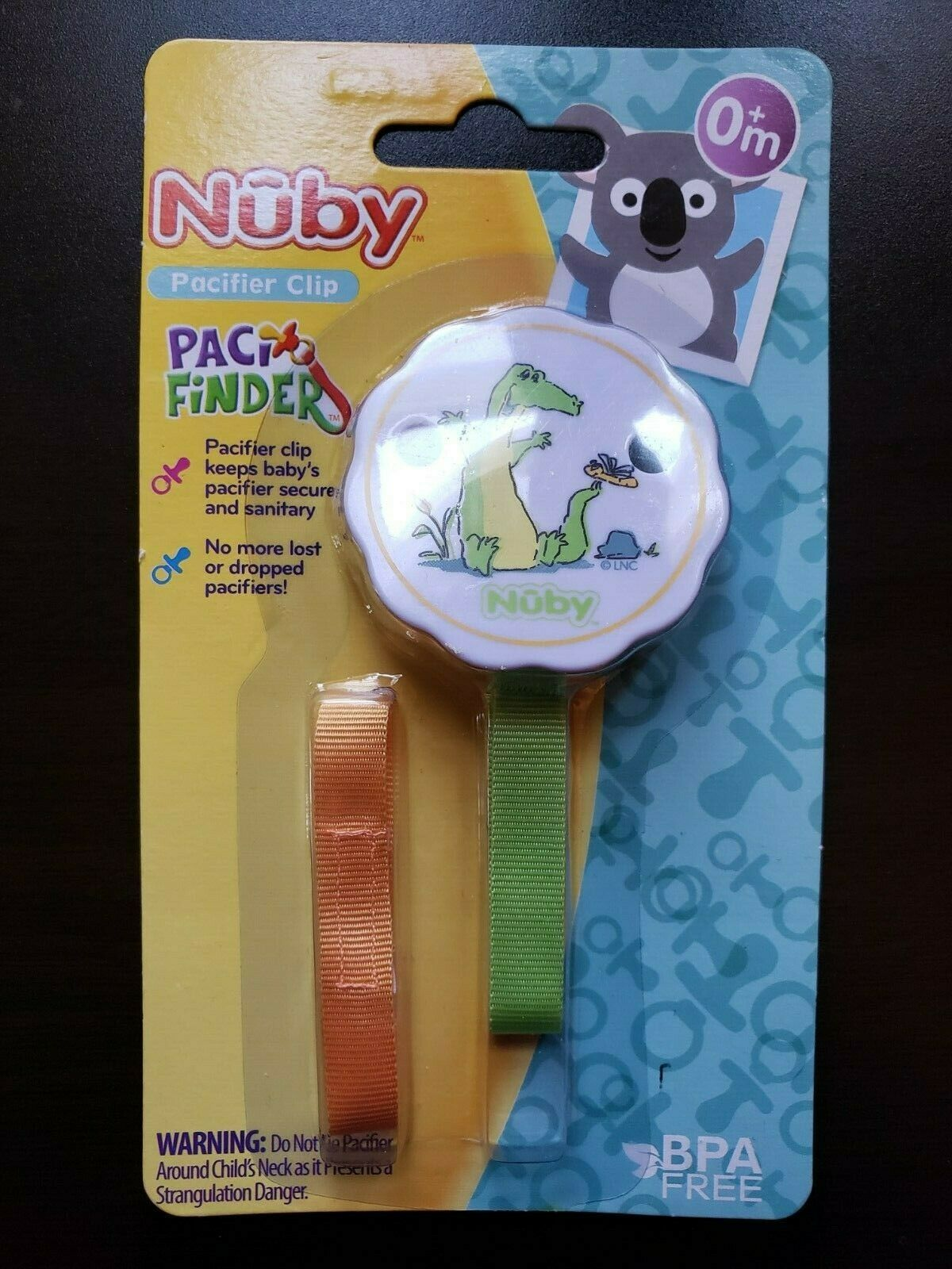 infant nuby pacifinder pacifier gator clip