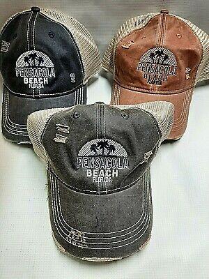 Souvenir Pensacola Florida Retro Ball Cap Embroidered Adjustable Hat Adult