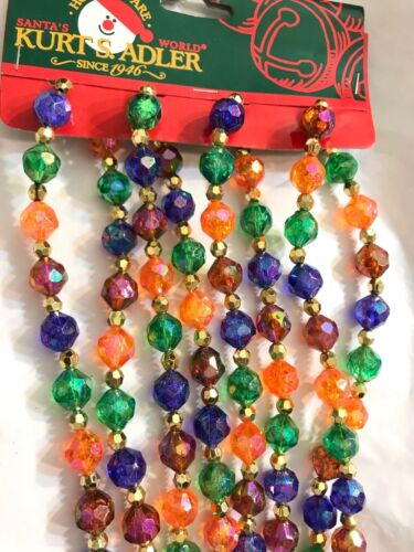 Christmas Tree Garland Multicolor Beads 9 ft. Kurt Adler