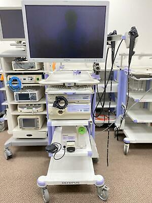 Olympus Cv-180 System Gif-h180j Gastroscope Bf-q180 Bronchoscope - Endoscopy