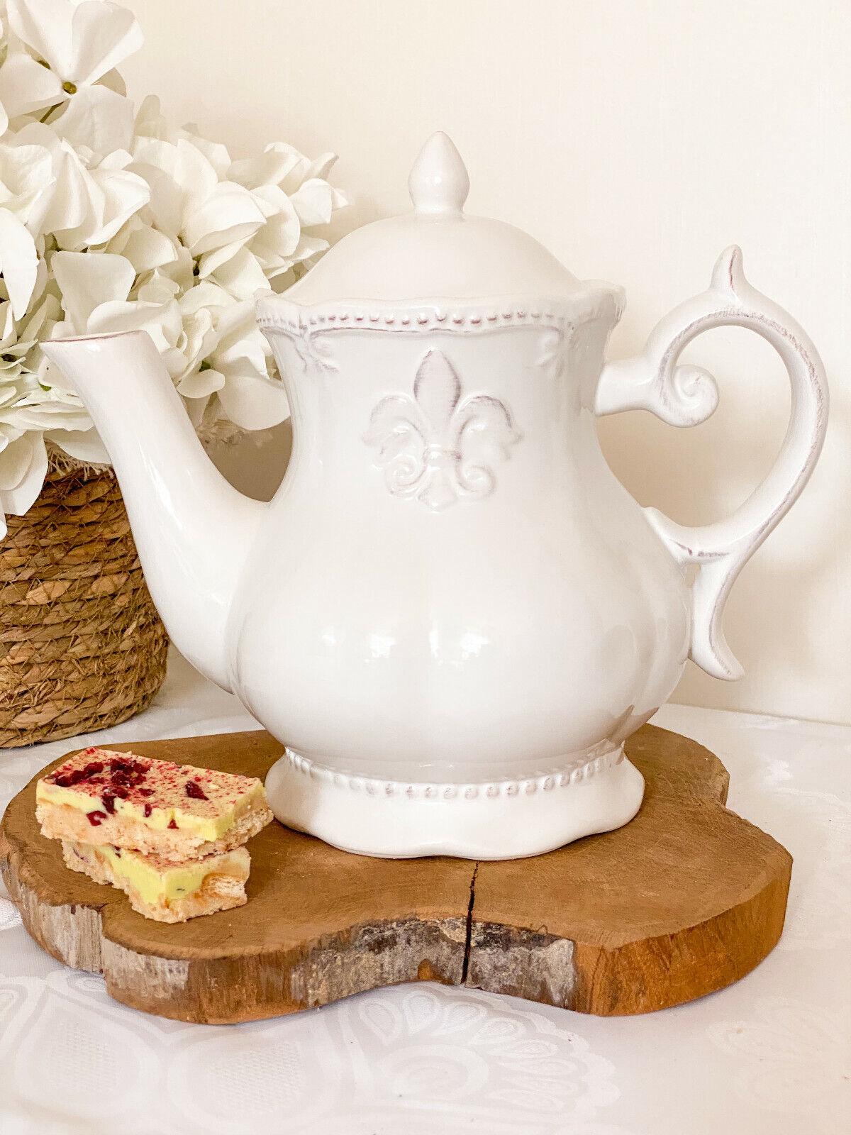 Clayre & Eef ♥ Teekanne Kaffeekanne Lilie Kanne Landhaus Shabby
