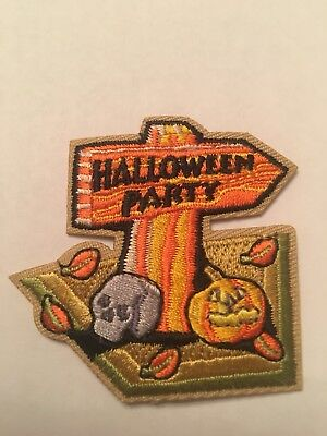 HALLOWEEN PARTY Badge Iron On Girl Boy Cub Scouts Fun Patch New! - Scout Halloween Crafts