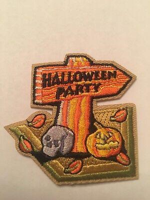 HALLOWEEN PARTY Badge Iron On Girl Boy Cub Scouts Fun Patch New! - Girl Scout Halloween Party