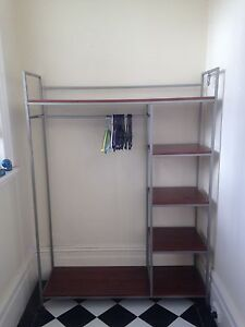 Clothes rack with shelves Petersham Marrickville Area Preview