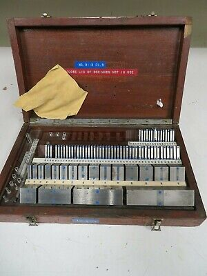 Pratt Whitneyhokestarrett 80 Piece Square English Gage Block Set - Ns18