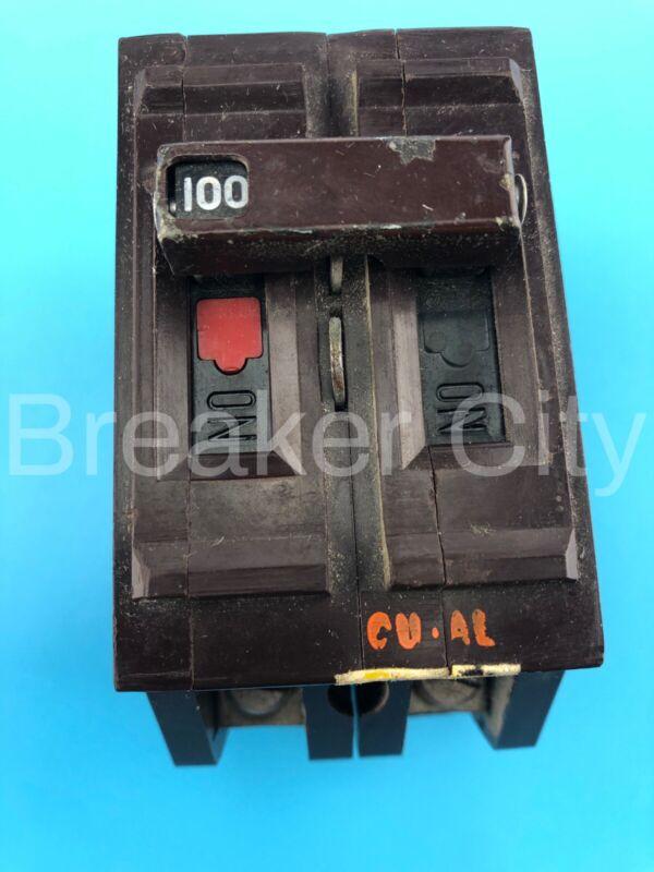 Wadsworth 100 Amp 2 Pole or Double Type C Main Circuit Breaker 240V