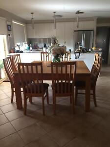 8 Seater Square Timber Dining Table