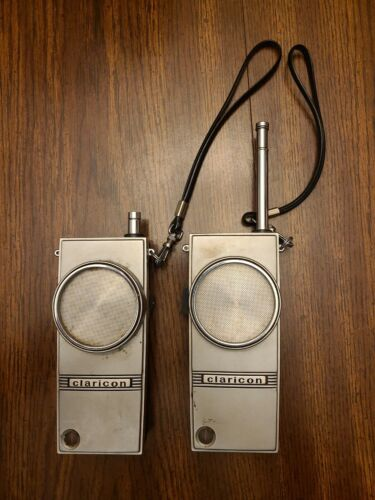 Pair Of Vintage 60s Clarion Citizens Band Walkie Talkies, Both Are Operational - $39.99